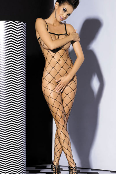 Bodystocking aus Grobnetz